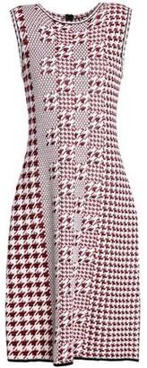 Oscar de la Renta Jacquard-Knit Virgin Wool Dress