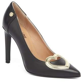Love Moschino Heart Applique Stiletto Pump