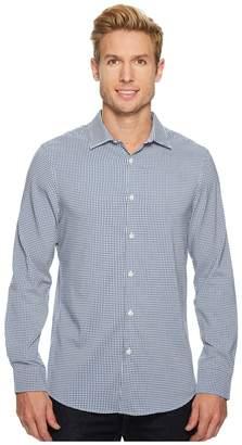 Perry Ellis Mini Check Total Stretch Dress Shirt Men's Clothing