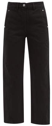 Lemaire Twisted Cropped Straight Leg Jeans - Womens - Black