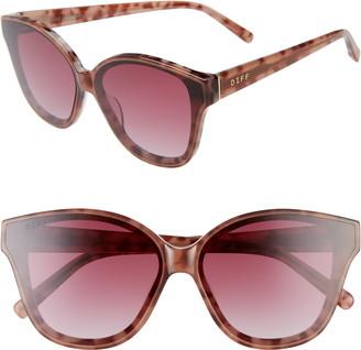 Cat Eye DIFF Piper 64mm Oversize Sunglasses
