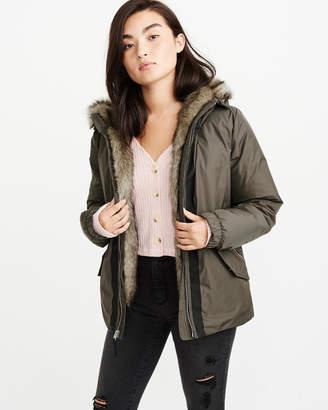 Abercrombie & Fitch Fur-Trim Parka