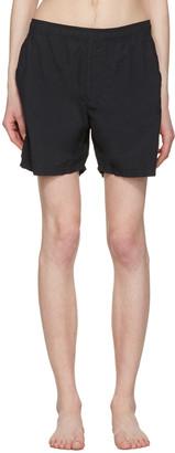 Stone Island Black Pocket Swim Shorts $150 thestylecure.com