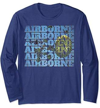 Army Airborne Paratrooper Special Forces Long Sleeve Shirt