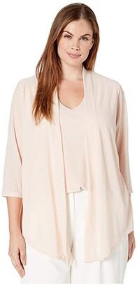 Calvin Klein Plus Plus Size Long Sleeve Textured Faux Flyaway
