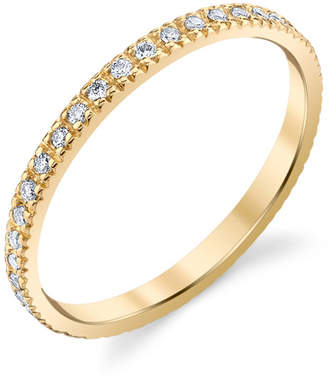 Sydney Evan 14k Gold Diamond Eternity Band, Size 6.5