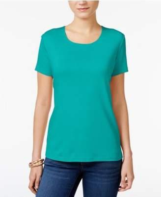 Karen Scott Scoop-Neck T-Shirt In Regular & Petite Sizes, Created for Macy's