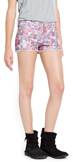 MANGO Floral print shorts