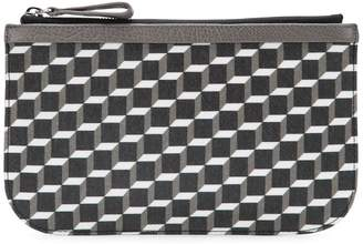 Pierre Hardy cube perspective printed clutch