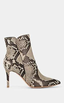 Gianvito Rossi Women's Levy Python Ankle Boots - Wht.&blk.