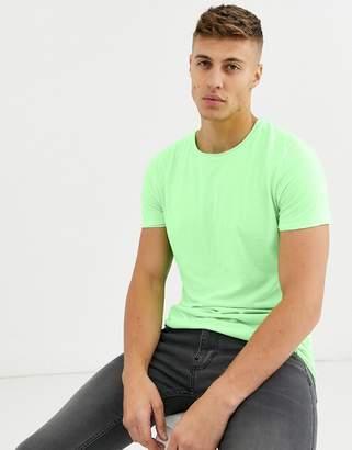 Brave Soul neon raw edge t-Shirt