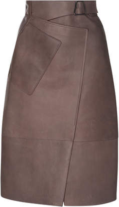 Akris Trapezoid Wrap Skirt