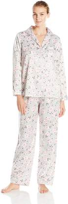 Carole Hochman Women's Brush Back Satin Pajama