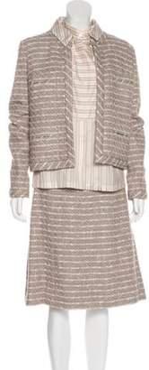 Chanel Tweed Three-Piece Suit Pink Tweed Three-Piece Suit