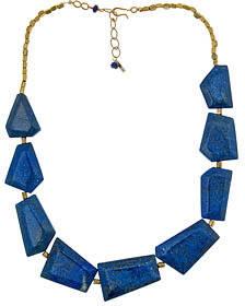 Minu Geometric Lapis Necklace