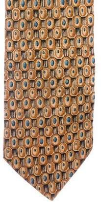 Pierre Balmain Geometric Print Silk Tie