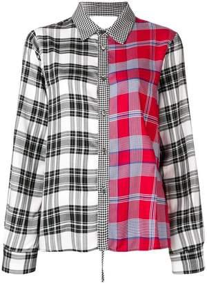 Semi-Couture Semicouture multi-print shirt