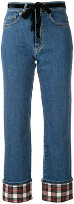 Isa Arfen contrast turn-up jeans
