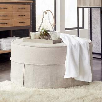 Darby Home Co Round Cotton Ottoman Slipcover