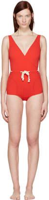 Lisa Marie Fernandez Red Yasmin Swimsuit