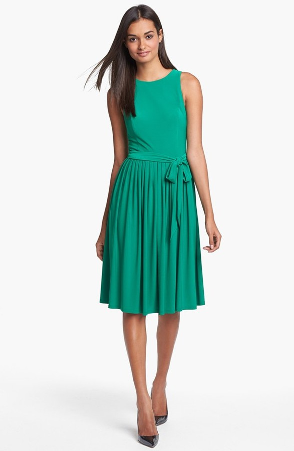Isaac Mizrahi New York Jersey Fit & Flare Dress
