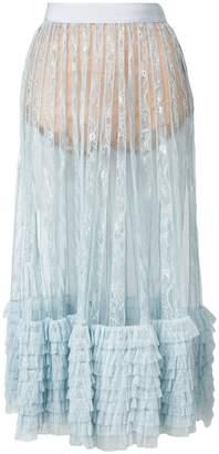Amen layered frills skirt