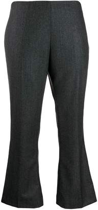 Berwich cropped kick-flare trousers