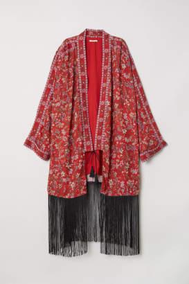 H&M Kimono with Fringe - Red