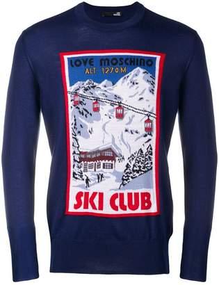 Love Moschino Ski Club jumper
