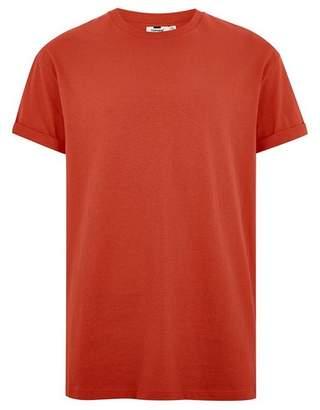 Topman Mens Orange Rust Oversized Roller T-Shirt