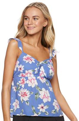 Candies Juniors' Candie's Bow Front Babydoll Tank Top