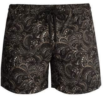Commas - Paisley Print Swim Shorts - Mens - Black Multi