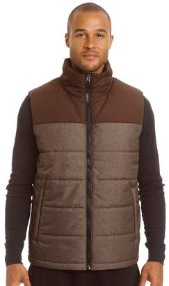 Champion Big & Tall Colorblock Quilted Hooded Puffer Vest