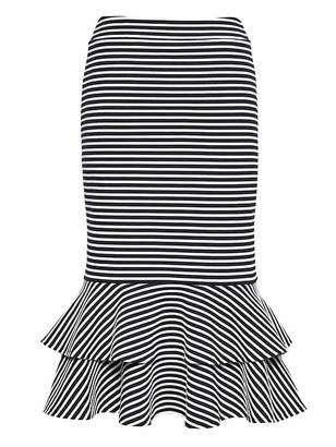 Banana Republic Flounce-Hem Rib-Knit Skirt