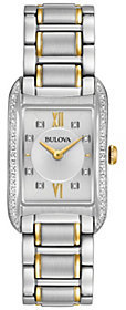Bulova Ladies' Diamond Accent Rectangular Watch $550 thestylecure.com