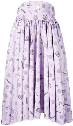 Olympia Le-Tan Frances printed skirt