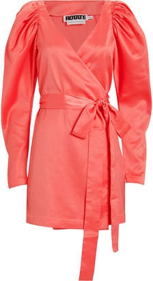 Rotate by Birger Christensen No. 31 Satin Wrap Dress