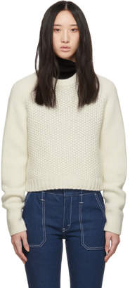 Chloé Off-White Wool Cashmere Chunky Sweater