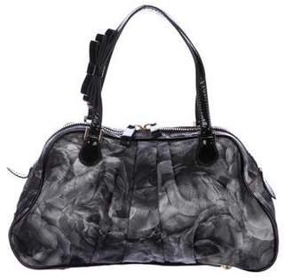 Valentino Pleated Rose Print Shoulder Bag
