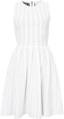 Milly contrasting dot detail dress