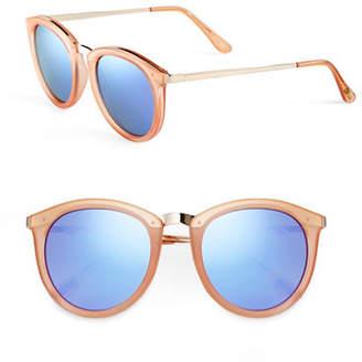 Le Specs No Smirking 60mm Round Sunglasses