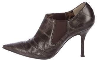 Dolce & Gabbana Eel Skin Pointed-Toe Booties