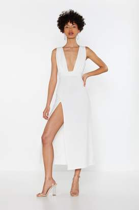 Nasty Gal Deep On Dancing Midi Dress