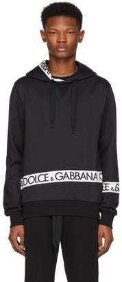 Dolce & Gabbana Black Logo Tape Hoodie