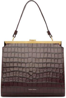 Mansur Gavriel Burgundy Croc Elegant Bag