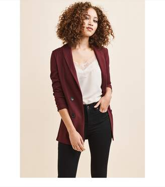 Dynamite Double-Breasted Blazer PERFECT BURGUNDY