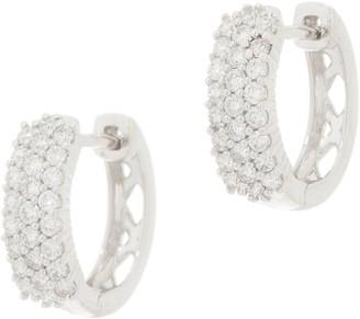Affinity Diamond Jewelry Affinity Diamond 14K Gold Huggie Hoop Earrings, 1/2 cttw