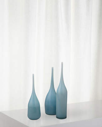 Jamie Young Pixie Decorative Vases in Periwinkle Blue Glass Set of 3