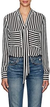 Barneys New York Women's Striped Silk Tieneck Blouse
