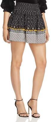MISA Los Angeles Lisanne Ruffle Pom-Pom Skirt